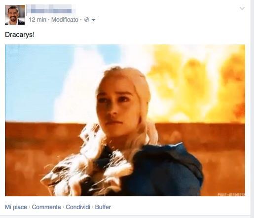 Esempio di GIF su Facebook