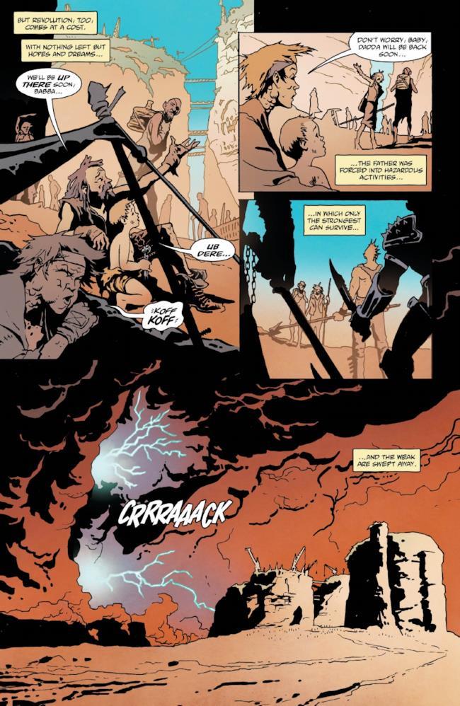 Pagina 3 del fumetto su Mad Max: Fury Road