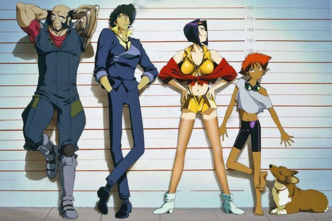 I protagonisti dell'anime Cowboy Bebop in posa.