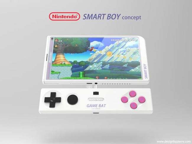 Concep art per Nintendo Smart Boy e il Game Bat associato