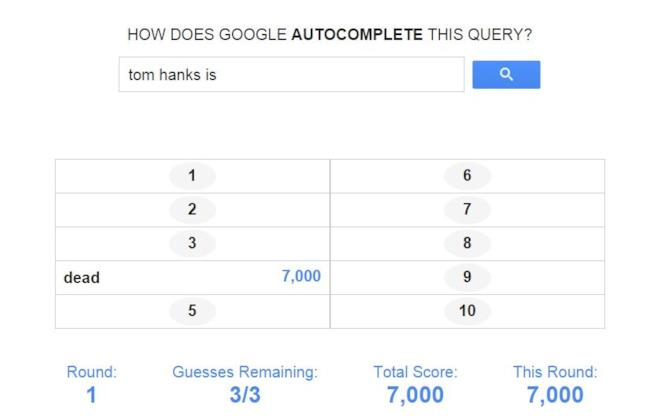 Google Feud fa una domanda su Tom Hanks