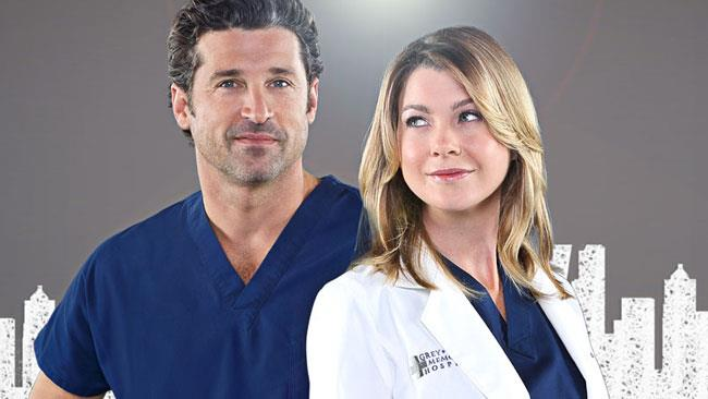 Meredith Grey e Derek Shepherd in Grey's Anatomy