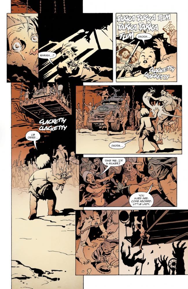 Pagina 4 del fumetto su Mad Max: Fury Road