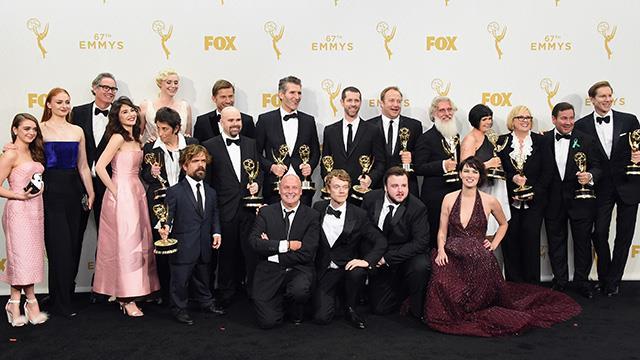 Alcuni dei vincitori degli Emmy 2015 dopo la cerimonia