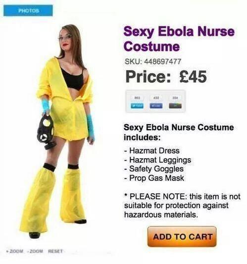 Il costume da infermiera con l'Ebola