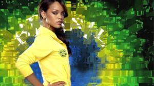 Rihanna in versione Mondiali di calcio