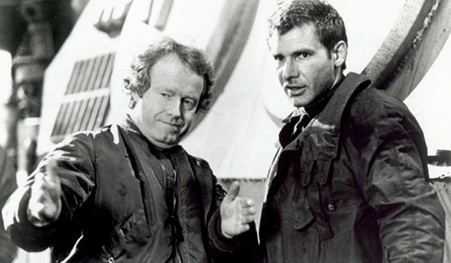 Ridley Scott e Harrison Ford sul set di Blade Runner 2