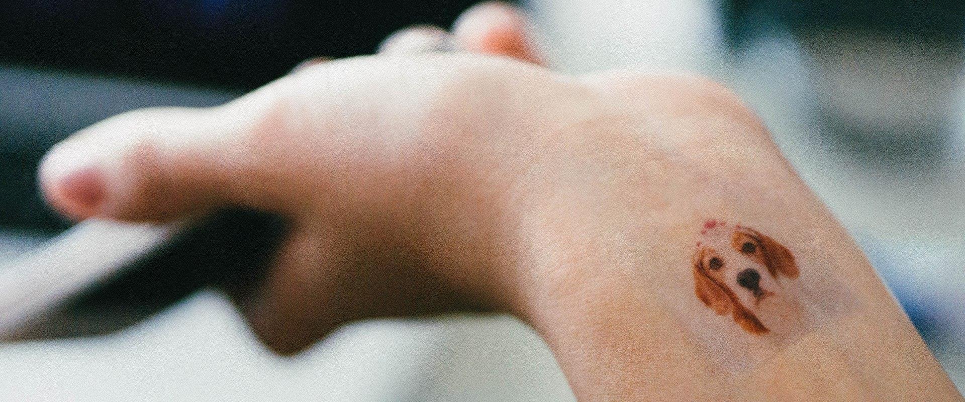 Esempio di foto di Instagram sulla pelle