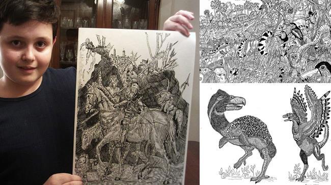 Un bambino serbo a 11 anni è già maestro d'arte