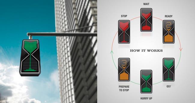 Semaforo a LED che informa gli automobilisti