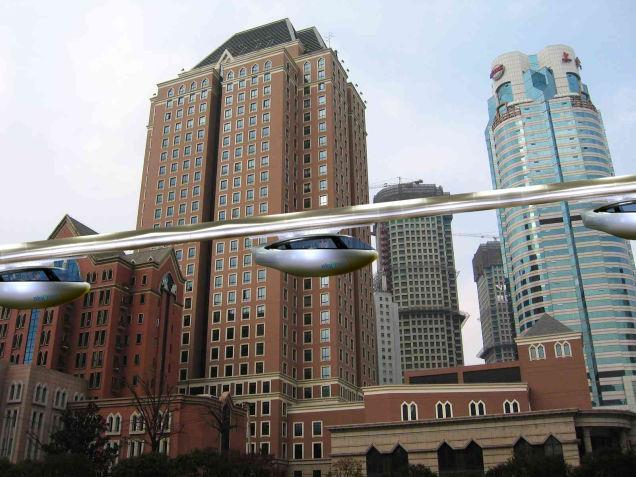 Rendering delle vetture SkyTran