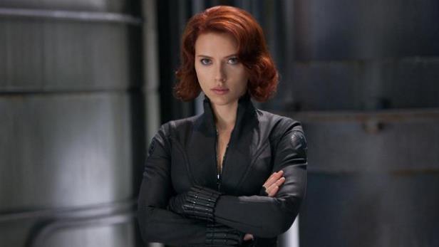 Scarlett Johansson nel ruolo di Vedova Nera