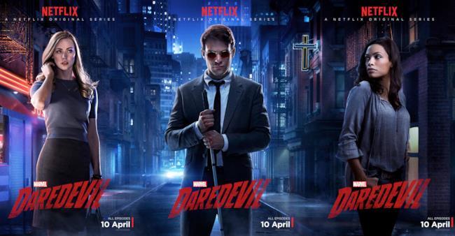 Karen, Matt e Claire sui poster promozionali di Daredevil