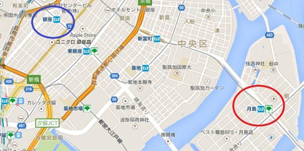 La mappa dei punti in cui è stata avvistata la tartaruga gigante