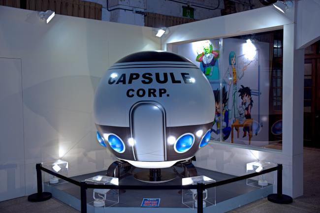 L'interno della Dragon Ball Science Exposition