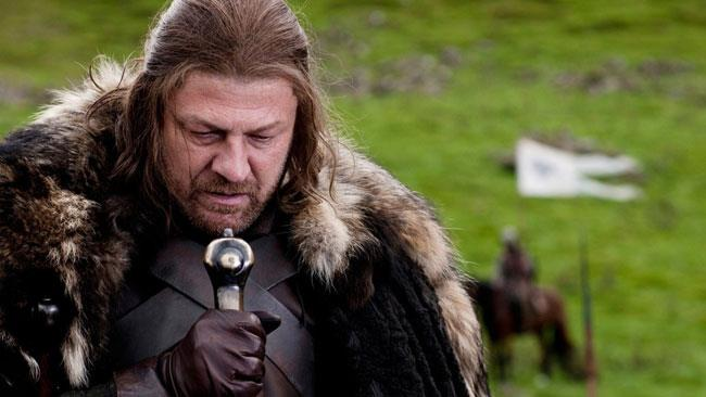 Il compianto Ned Stark in Game of Thrones