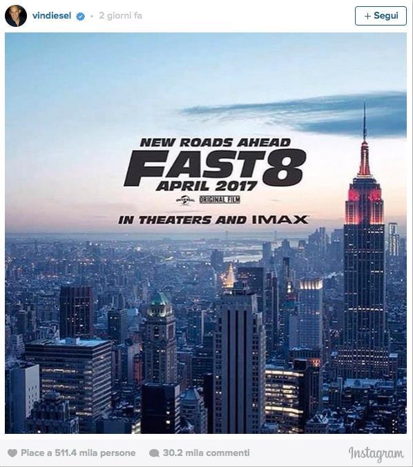 Primo Poster di Fast & Furious 8