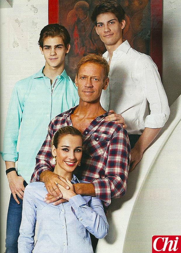La famiglia di Rocco Siffredi sulla rivista CHI