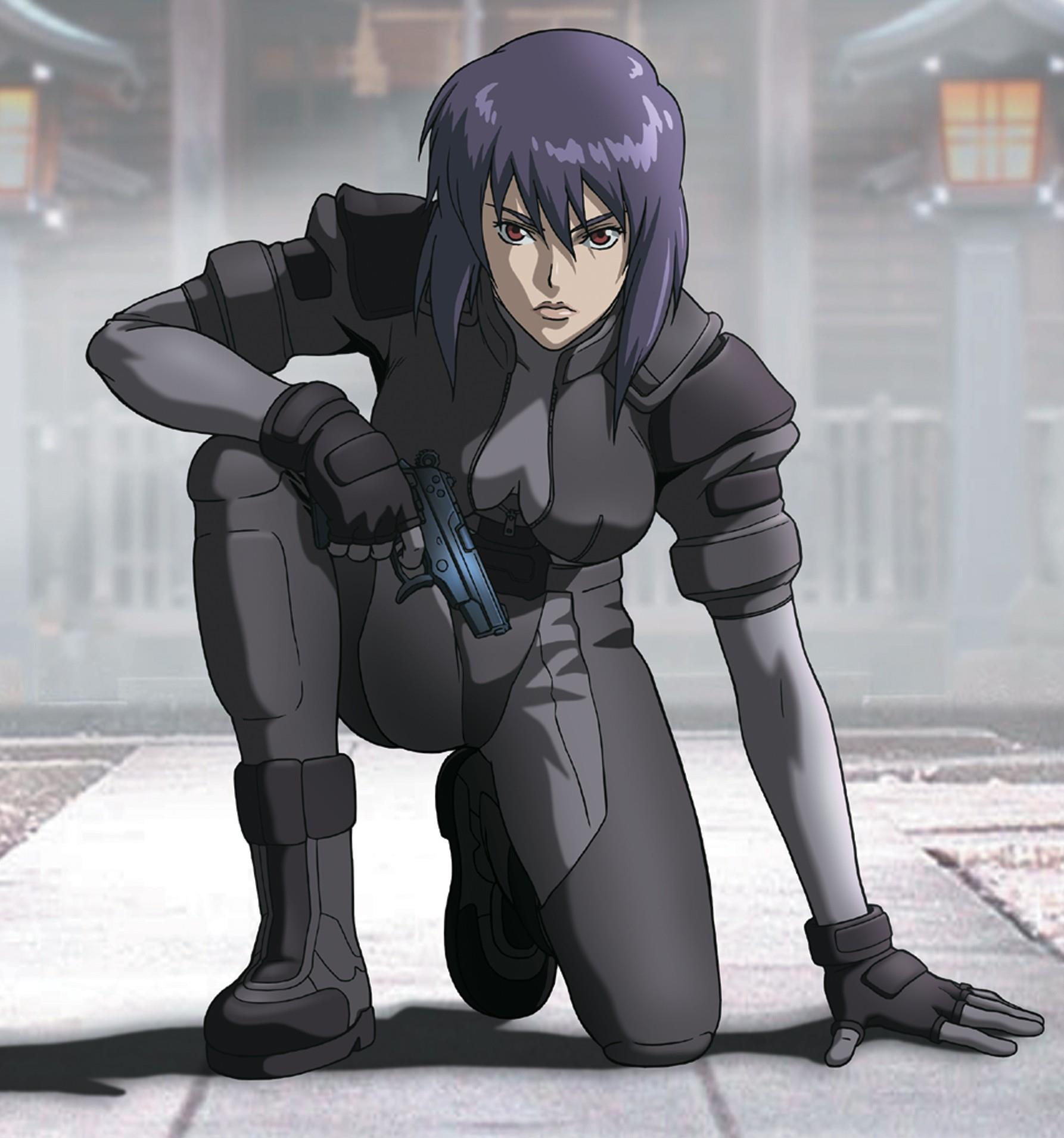 Motoko Kusanagi nell'anime di Ghost in the Shell