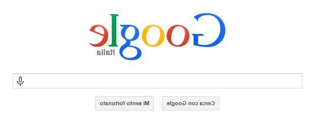 elgooG di Google, la pagina web