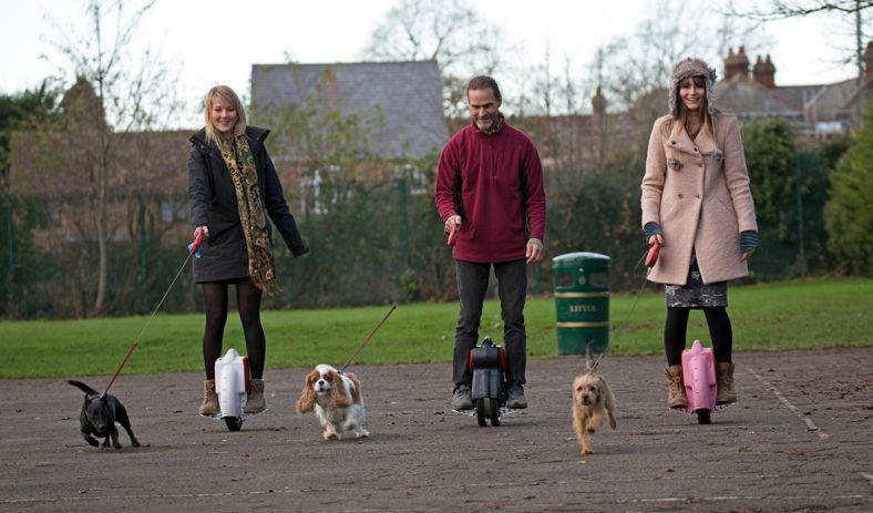 Le AirWheel usate per portare a passeggio il cane