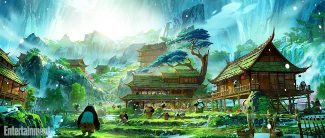 Po nel villaggio dei panda in Kung Fu Panda 3