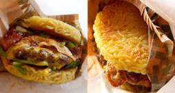 I gustosi Inside Out Burger coi noodle al posto del pane