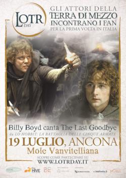 Il poster del LOTR Day di Ancona