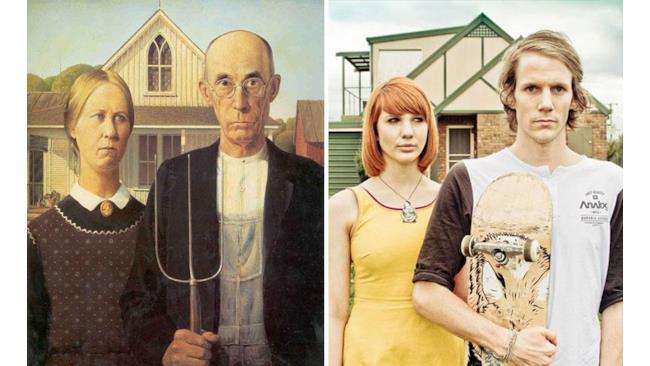 """""""Gotico Americano"""" di Grant Wood"""