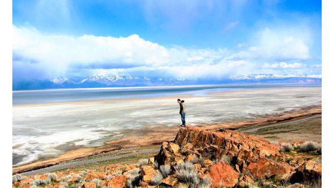 Immagine dell'Antelope Island in USA