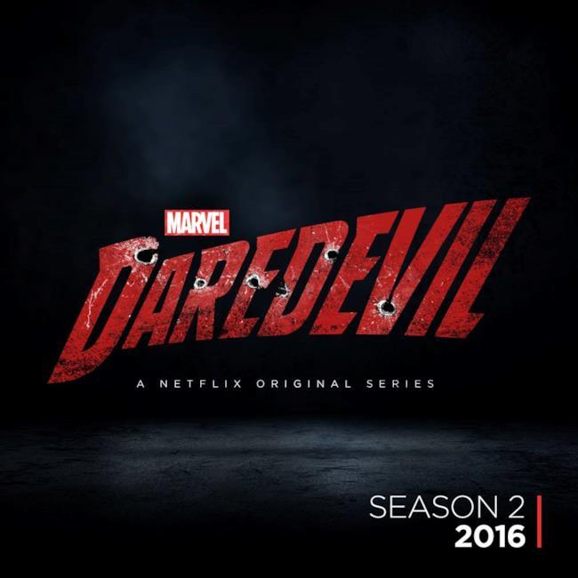 Il logo della seconda stagione di Daredevil su Netflix