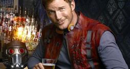Chris Pratt in un'immagine promozionale di Guardiani della Galassia