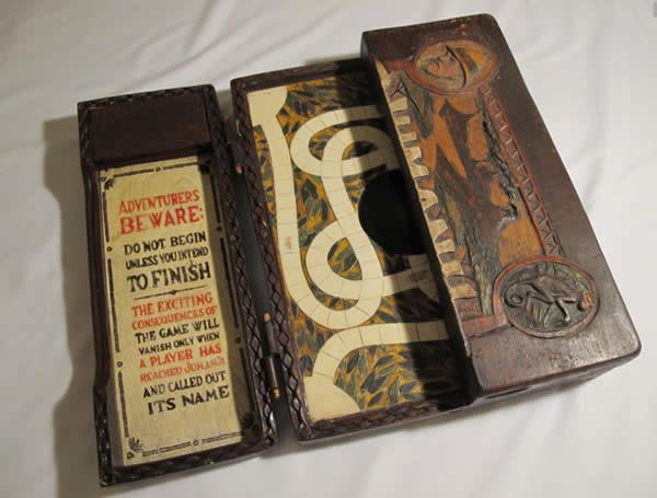 Uno dei giochi da tavolo Jumanji originali usati nel film