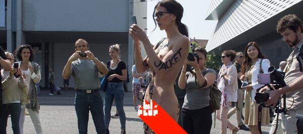 Milo Moiré nuda per Basilea