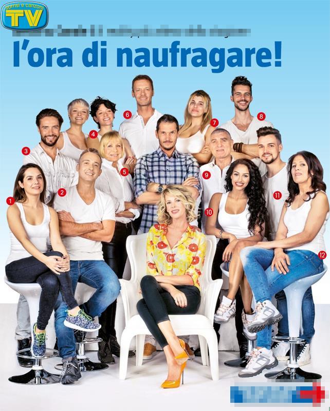 I concorrenti 2015 dell'Isola dei Famosi sul settimanale Tv Sorrisi e Canzoni