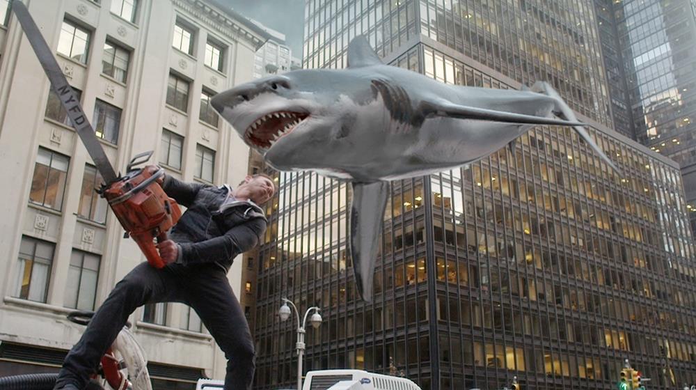 Una scena da Sharknado