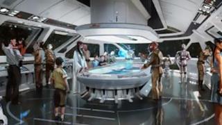 Una riproduzione immaginaria dell'albergo di Star Wars