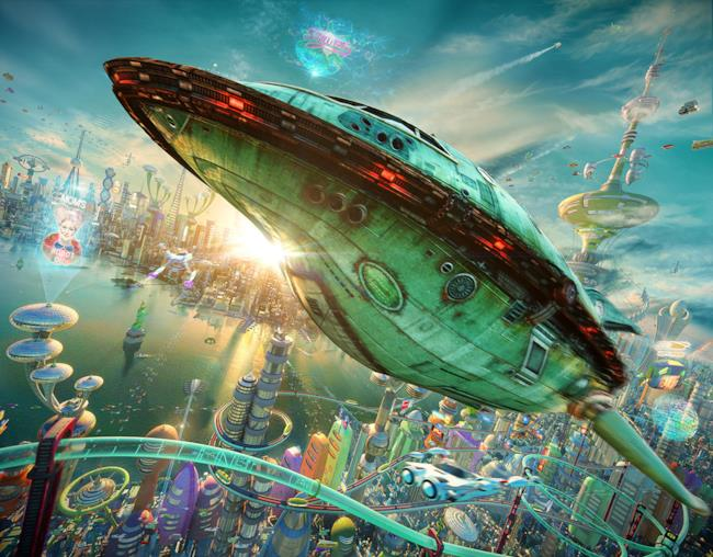 navetta Planet Express renderizzata