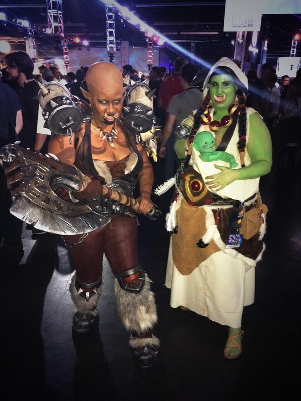 Cosplayer di Warcraft: Orchi