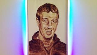 Il ritratto di Mark Zuckerberg fatto da KATSU con le proprie feci