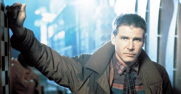 Harrison Ford nei panni di Rick Deckard in Blade Runner