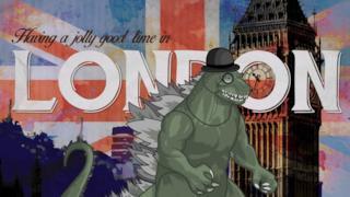 Cartolina da Londra con Godzilla