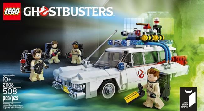 Il set LEGO con la Ecto-1 dei Ghostbusters