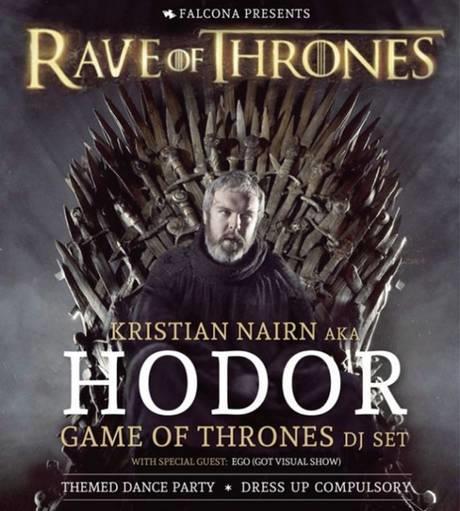 Rave of Thrones, il tour di DJ Hodor nel mondo reale
