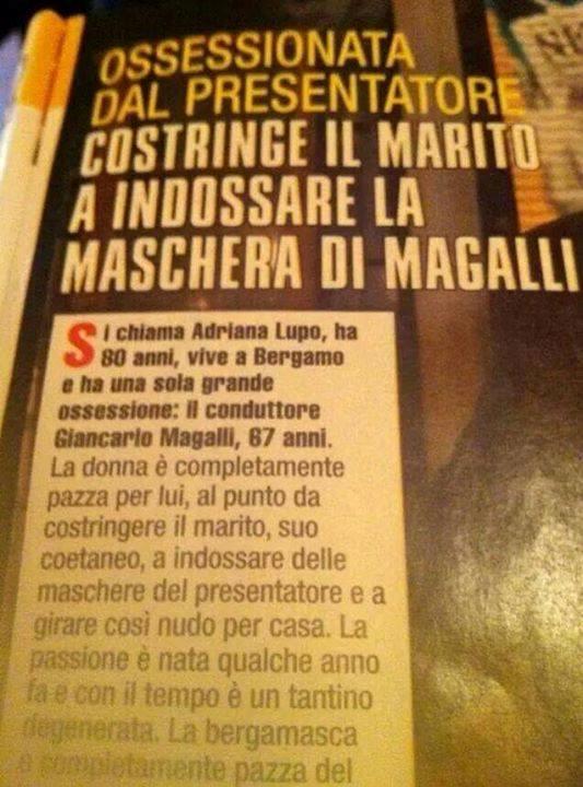 Notizia di Magalli e della casalinga da lui ossessionata