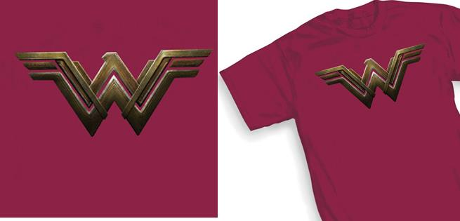 T-shirt con il logo di Wonder Woman