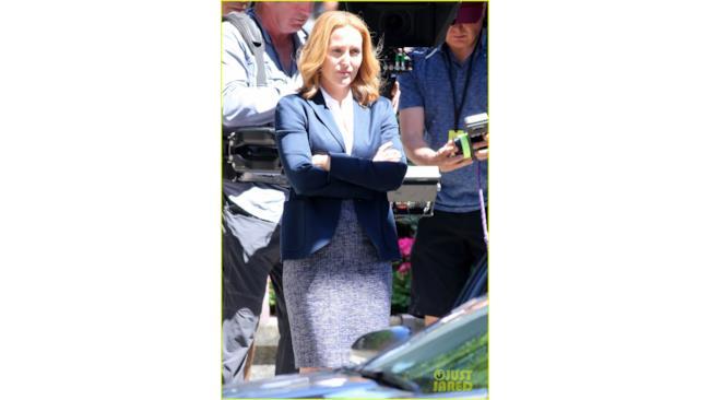 Foto dal set di X-Files: Dana Scully