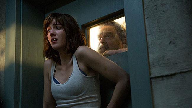 10 Cloverfield Lane, i due attori protagonisti Mary Elizabeth Winstead e John Goodman.