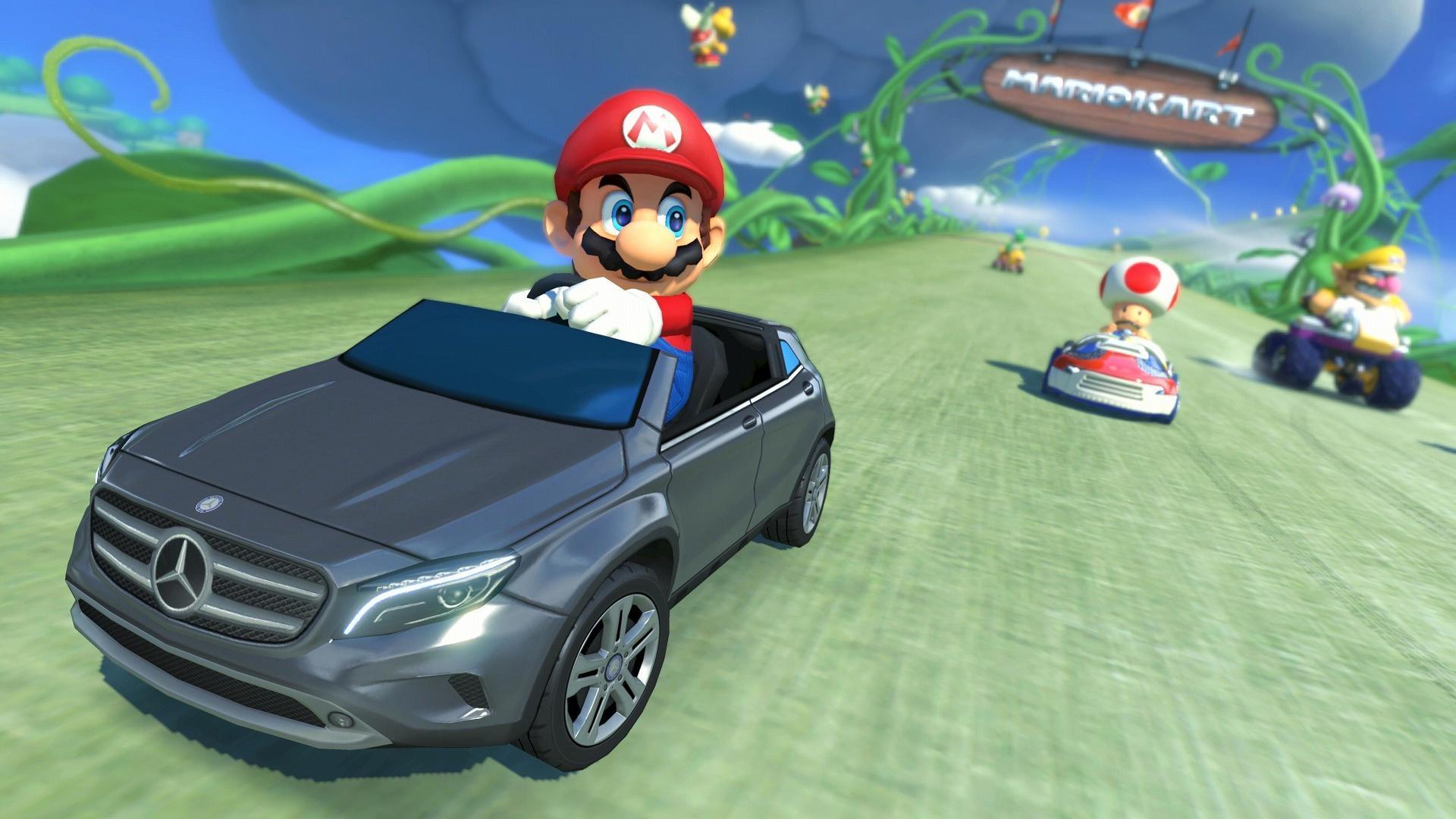 Super Mario in Mercedes