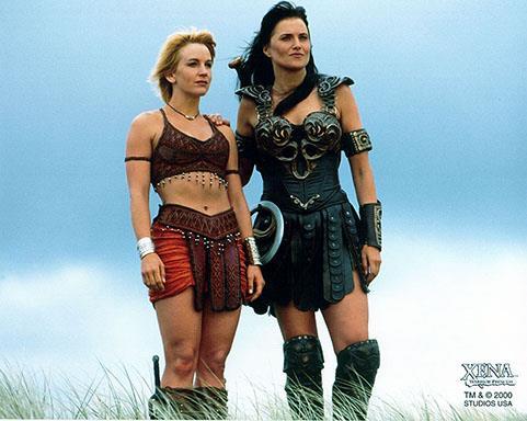Xena e Gabrielle in Xena: La Principessa Guerriera